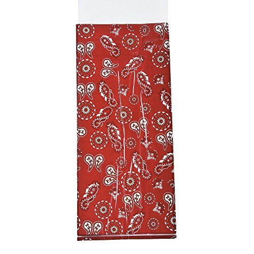 Fun Express Red Western Bandana Cellophane Party Treat Bags