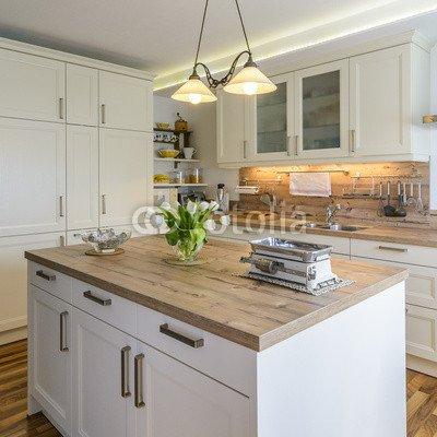 wohnliche cucina di campagna (63763949), Alu-Dibond, 70 x 70 cm ...