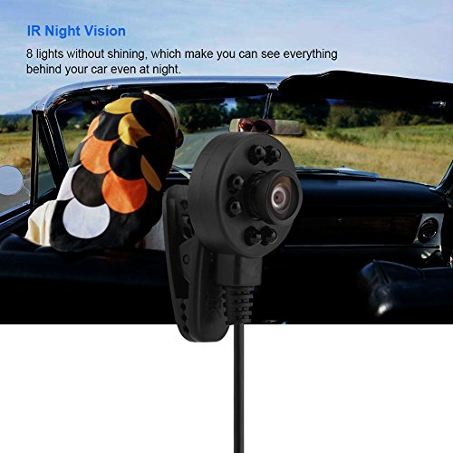 Tihebeyan HD 170°Wide Angle Camera, 8 LED IR Night Vision Camera Audio and Video FPV Micro Camera, Mini Security Camera, PAL Model