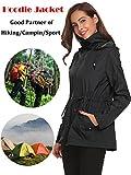 Romanstii Rain Jacket Women Waterproof with Hood Lightweight Raincoat Outdoor Windbreaker
