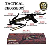 Hunting Crossbow - Rogue River Tactical Self Cocking Crossbow 80lb Draw Mini Pistol Cross Bow Best Quality 80 Pound Hunting w/3 Aluminum Target Arrows Archery Bow Bolts (Crossbow w/99 Arrows)