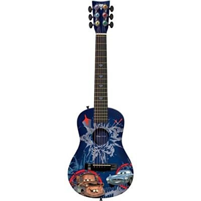 Disney Pixar Cars 2 Finn Mater Spy Children's Acoustic Guitar First Act Level 3 Ages 4 Spy Explosion Blue: Musical Instruments