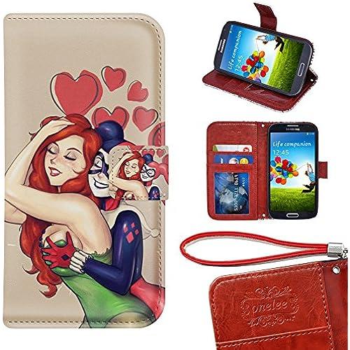 Samsung Galaxy S7 Edge Wallet Case, Onelee - Poison Ivy Premium PU Leather Case Wallet Flip Stand Case Cover for Samsung Galaxy S7 Edge with Card Slots Sales