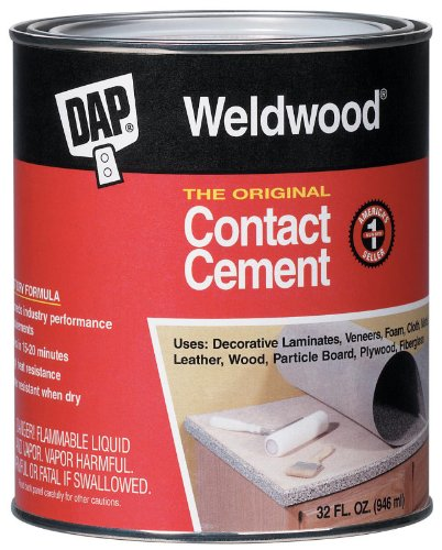 4 Pack Dap 00272 Weldwood Original Contact Cement - Quart by DAP