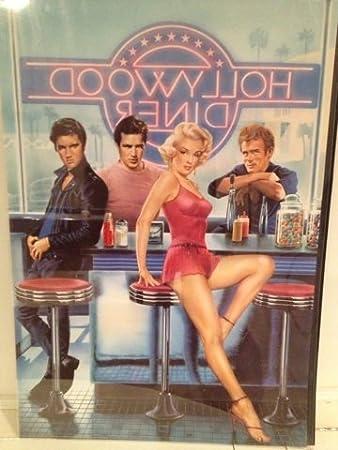 Amazoncom Hollywood Diner 36x24 Elvis Presley Marlo Brando