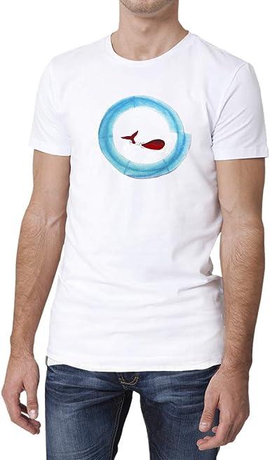 Camiseta algodón Blanca de Hombre con diseño Original con Arte ...