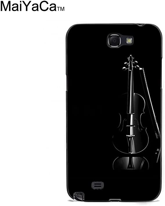 Amazon Com Maiyaca Tm M84395 Black Violin Elegant Wallpaper Phone Case For Samsung Galaxy Note2