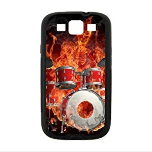 Amazing rock drum set art?šº?Cool drum kit musical instrument pattern Custom phoneCase for Samsung Galaxy S3 I9300 PC case cellphone cover black