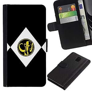 All Phone Most Case / Oferta Especial Cáscara Funda de cuero Monedero Cubierta de proteccion Caso / Wallet Case for Samsung Galaxy Note 3 III // MINIMALIST MAMMOTH