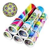 SUPVOX 2pcs Magic Kaleidoscope Kit Classic Rotating Tin Kaleidoscope Game Educational Puzzle Toys for Kids Adults Gift (Random Color)