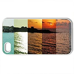 A Day in the Life - Case Cover for iPhone 4 and 4s (Rivers Series, Watercolor style, White)