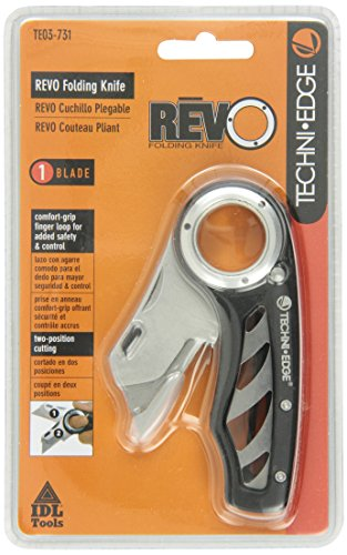 Edge Folding Blade - Techni Edge 03-731 REVO Folding Utility Knife (Black or Gray, Color Varies)