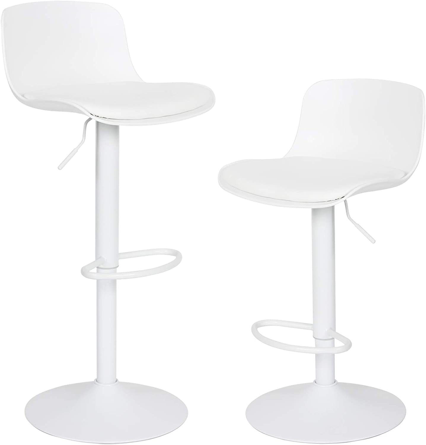 Younike Furniture Modern Design Barstools With Adjustable Height And 360 Rotation Ergonomic Streamlined Polypropylene High Bar Stools For Bar Counter Kitchen And Home Set Of 2 White Amazon Co Uk Kitchen Home