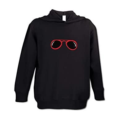 79f03dc9643c London Doll Red Sunglasses Cotton/Polyester Long Sleeve Boys-Girls Toddler  Hooded Fleece Pullover