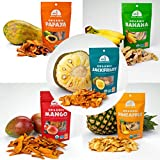 Mavuno Harvest Organic Dried Fruit Variety - Mango Jackfruit Banana Pineapple Papaya - (5x2 Oz)