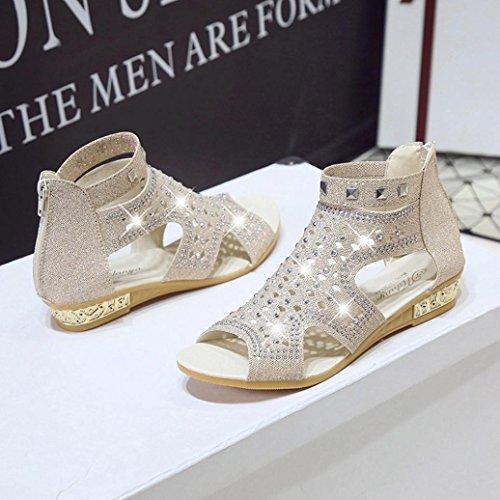Printemps Les De Wedge Femmes Poisson Bouche Sandales Roma Hollow Fashion Zycshang Chaussures Mesdames Beige Été RdzBcqt