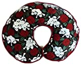 Nursing Pillow Cover Roses Skulls and Crossbones for Baby Boy or Baby Girl