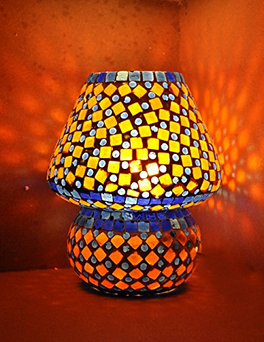 Mosaic Outdoor Tiffany Furniture (Handmade Glass Table Tiffany Lamp Shades/ Turkish Lamps Mosaic 9 X 8 Inches)