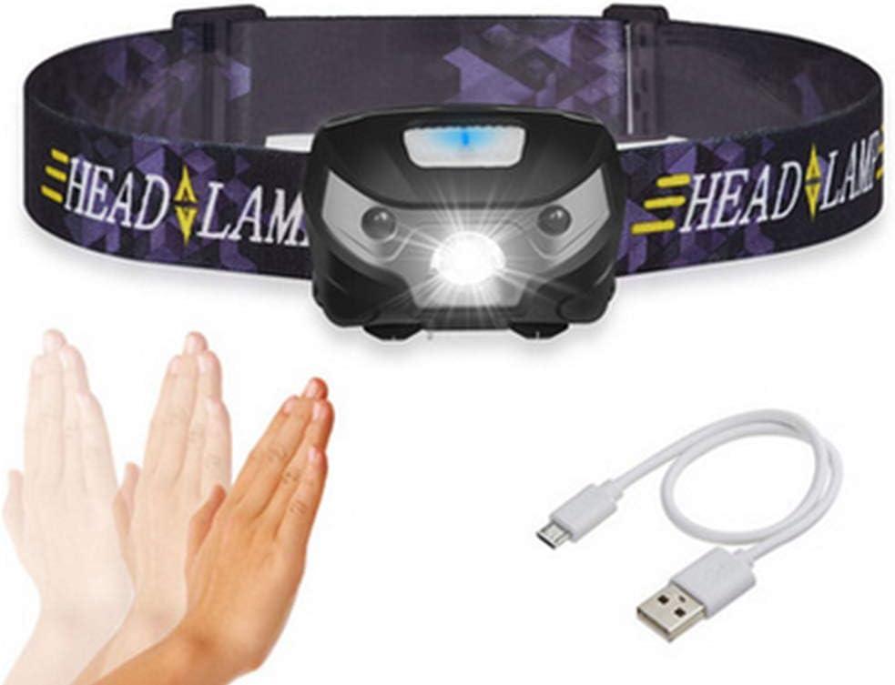 LIVEHITOP LED Lampe frontale USB Rechargeable Induction par capteur...