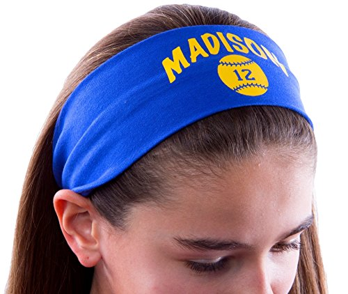 Design Your Own Personalized Softball Cotton Stretch Headband ~ Highlight ~CHOOSE YOUR CUSTOM COLORS FROM CHARTS IN THIS LISTING by Funny Girl Designs