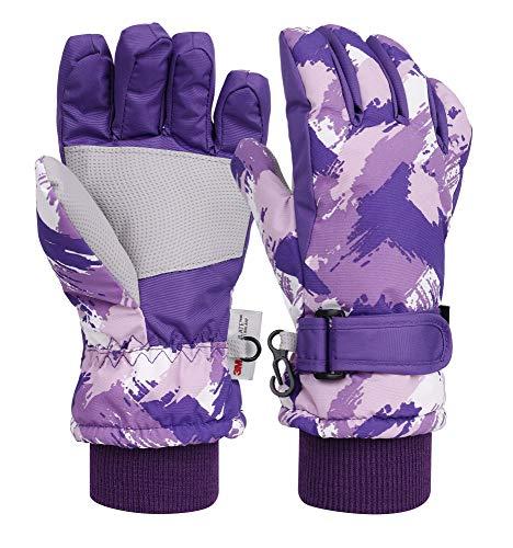 Livingston Kids Winter Outdoors Snow Sportswear Waterproof Insulated Ski Gloves