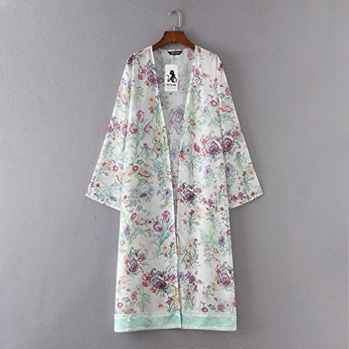 Bohemian en Surdimensionn de Femme Mousseline Chemisiers Chic Kimono Cardigan Vovotrade zqpwnHt0C