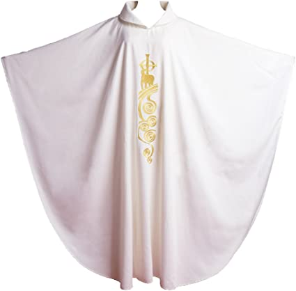White Everyday Chasuble for Clergy Members and Priests