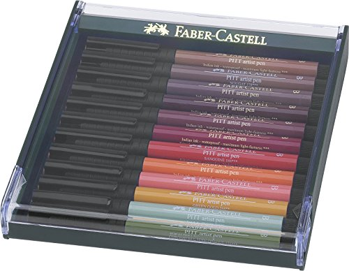 Faber-Castell 267422 Autumn Colours Pitt Brush Pen (Pack of 12) (Autumn Colours)