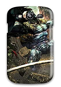 Galaxy S3 Case, Premium Protective Case With Awesome Look - Anarchy Reigns Warrior Sci-fi Anime Monster Battle