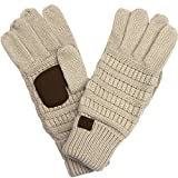 Hatsandscarf CC Exclusives Women Solid Ribbed Glove With Smart tips (G-20)