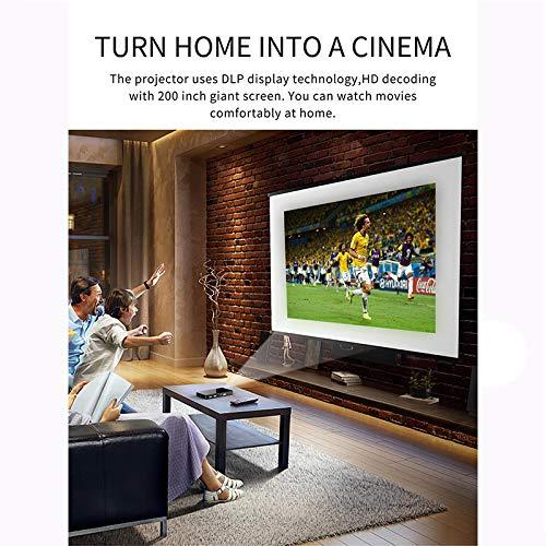 Link Co Mini proyector portátil Proyector de Video DLP Smart Home ...