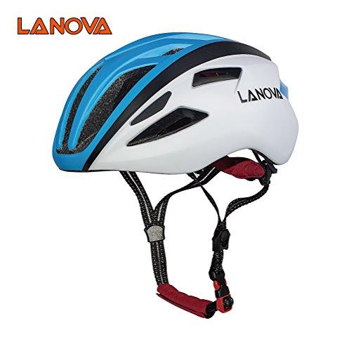 Lanova Adult Bike Mountain Road Cycling Helmet , Adjustable 56-61cm (BLUE, M/L) (Road Cm Bike 60)