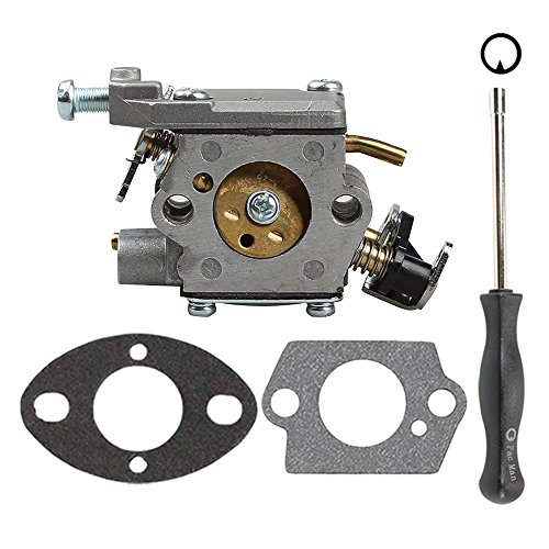 Butom 309362001 309362003 Carburetor with Gasket Adjustment Tool for Homelite UT-10560 UT-10562 UT-10564 UT-10566 UT-10568 UT-10569 UT-10580 35cc 38cc 42cc Chainsaw by Butom