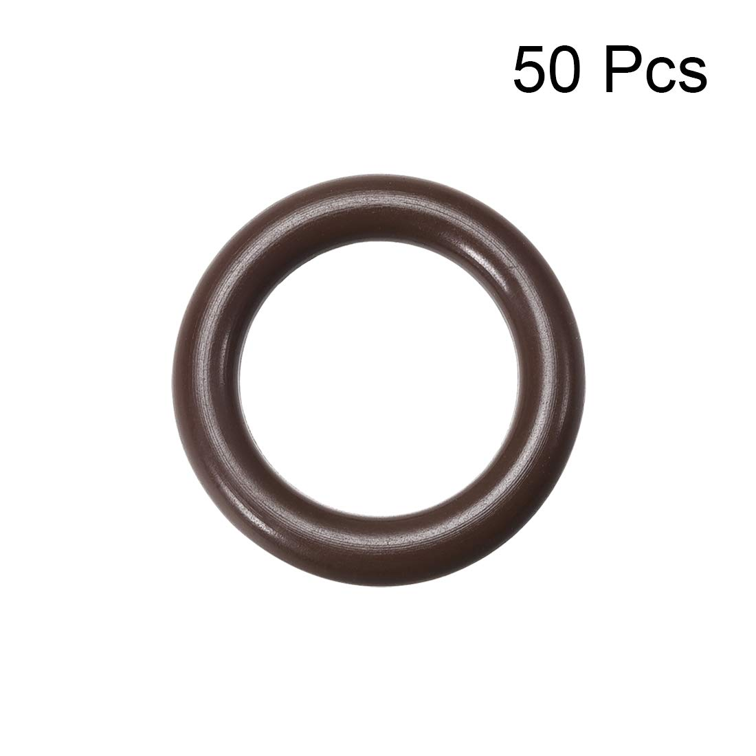 Seal Gasket Brown 50Pcs uxcell Fluorine Rubber O Rings 4mm Inner Diameter 3.5mm Width 11mm OD
