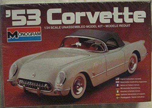 monogram '53 corvette model car kit