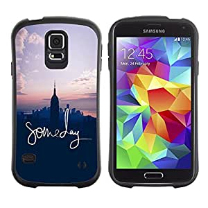 Suave TPU GEL Carcasa Funda Silicona Blando Estuche Caso de protección (para) Samsung Galaxy S5 / CECELL Phone case / / someday inspirational NYC American dream /