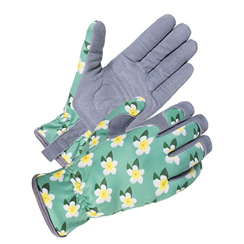SKYDEER Womens Gardening Gloves with Deerskin Leather Suede for Yard