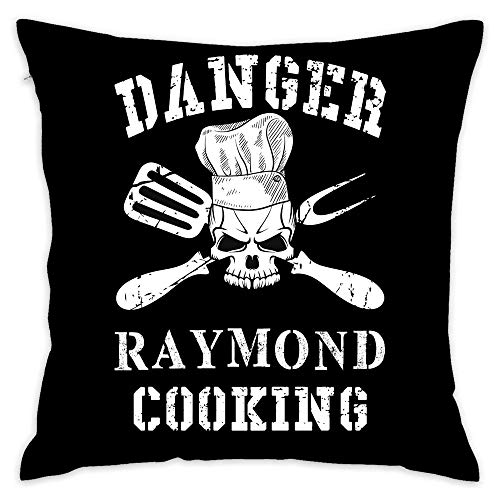 (Danger Raymond Cooking Decorative Throw Pillow Cover Cushion Two Sides Printed Pillow Case Square Print for Home Car Decor 18x18 Inch)