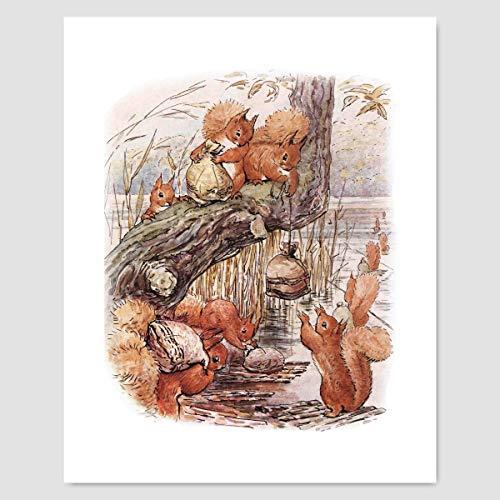 Beatrix Potter Print (Nursery Wall Art, Peter Rabbit Baby Decor)