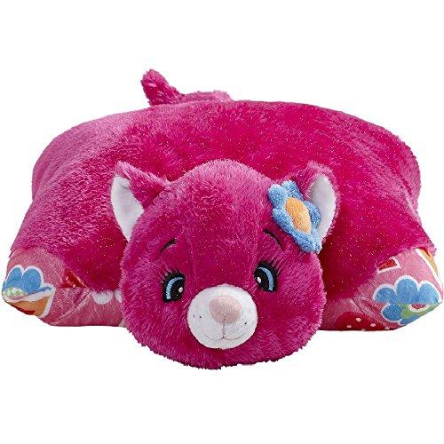 Pillow Pets Jumboz Pink Cat- Flower Power Cat Jumbo Stuffed Animal Plush Toy JUST TOY GAMES