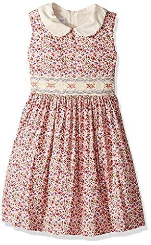 Bonnie Jean Little Girls' Collared Cotton Dress, Pink Floral, 4 - Girls Pink Floral Denim