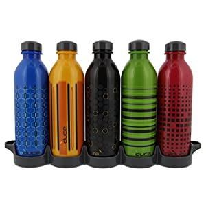 reduce WaterWeek 16oz Sport - 5 Day Water Bottle Set with Fridge Tray, 5 ct.