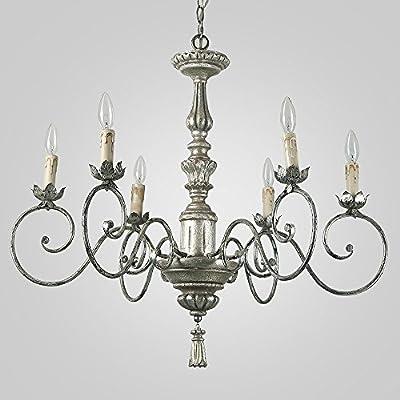 LNC 6-Light Pendant Light Traditional Chandelier Lighting Candle Chandeliers