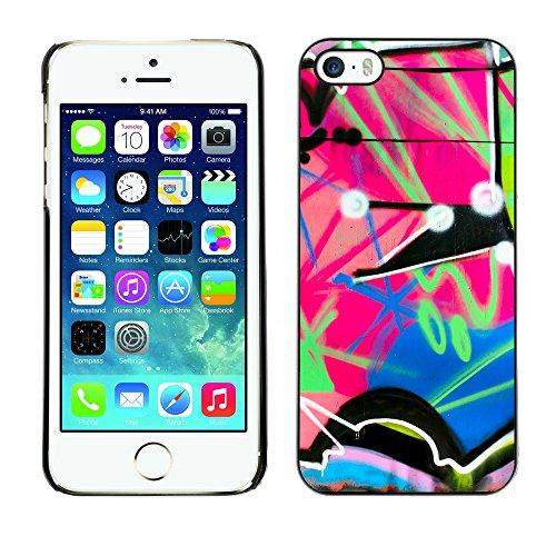 Premio Sottile Slim Cassa Custodia Case Cover Shell // V00002343 Graffiti // Apple iPhone 5 5S 5G
