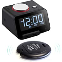 Homtime Alarm Clock w/ Wireless Vibration Disc