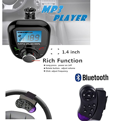 View Bluetooth FM Transmitter with Steering Wheel Control 2.