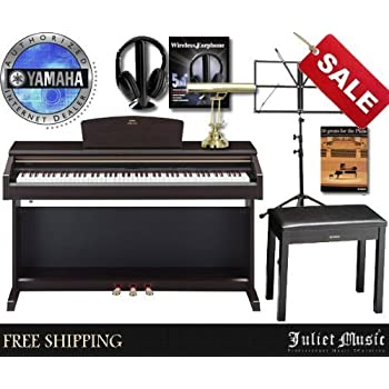yamaha arius ydp181 ydp 181 88 key digital piano delux bundle with free gifts. Black Bedroom Furniture Sets. Home Design Ideas