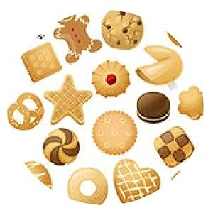 alfombrilla de ratón cookie iconos - ronda - 20cm