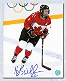 2014 iihf canada jersey - Hayley Wickenheiser Team Canada Autographed 2014 Olympic Action 8x10 Photo
