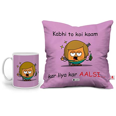 Buy Indi ts Friendship Day Special Aalsi Quote Printed